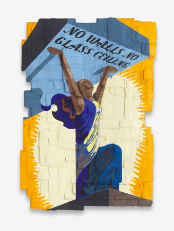 Andrea Bowers, No Walls No Glass Ceiling (Originally a Celebratory Poster for the Liberation of France during World War II, illustrated by Philippe Grach, 1944), 2018, Capitain Petzel