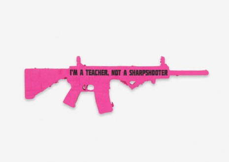 Andrea Bowers, I'm a Teacher, Not a Sharpshooter: Ode to CODEPINK (Parkland), 2018, Capitain Petzel