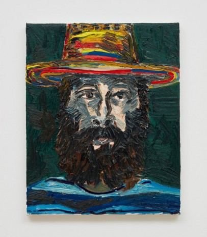 Alex Becerra, Self Portrait with Hat, 2018 , Almine Rech Gallery