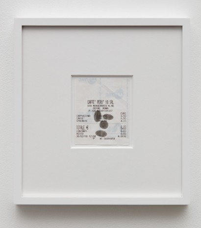 Jonathan Monk, Restaurant Drawing (RP Face), 2018 , Almine Rech Gallery