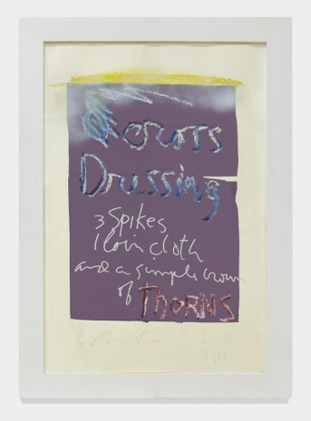 Rene Ricard, Cross Dressing (purple), 1989 , Almine Rech Gallery