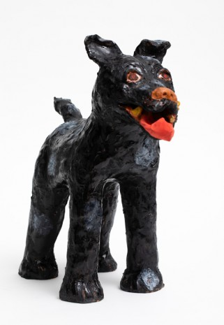 Sally Saul, Black Dog, 2018, Almine Rech Gallery