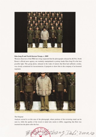 Zhang Dali, Visual Machine 201. circa 2009 Kim Jong Il and North Korean Troops, 2010, Tang Contemporary Art
