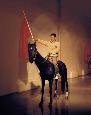 Zhang Dali, Wind Horse Flag No10, 2008, Tang Contemporary Art