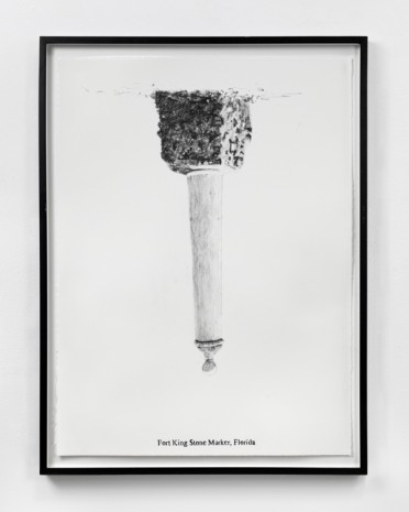Sam Durant, Fort King Stone Marker, Florida, 2005, Paula Cooper Gallery