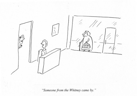 Pablo Helguera, ARTOONS: Someone from the Whitney..., , Galerie Gabrielle Maubrie