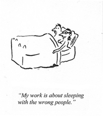 Pablo Helguera, ARTOONS: My Work is Sleeping with the Wrong People, , Galerie Gabrielle Maubrie