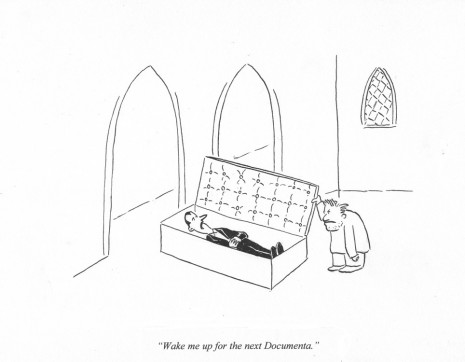 Pablo Helguera, ARTOONS: Wake me up for the next Documenta, , Galerie Gabrielle Maubrie