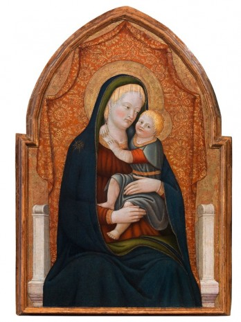 Paolo Schiavo, Madonna and Child Enthroned, c. 1440-1445 , Gagosian