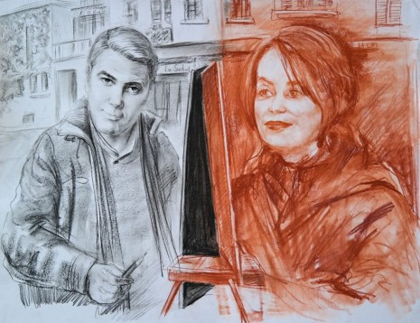 Christian Jankowski, Isabelle Huppert - George Clooney from the series: Me in the Eyes of another Actor, 2017 , Petzel Gallery