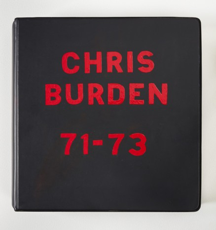 Chris Burden, Chris Burden Deluxe Photo Book 1971 - 73, 1974, Gagosian