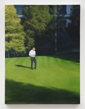 Paul Winstanley, Man in a White Shirt, 2012 , Praz-Delavallade
