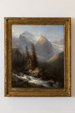 Francois Diday, Mountain Landscape (The Wetterhorn), 1866, MASSIMODECARLO