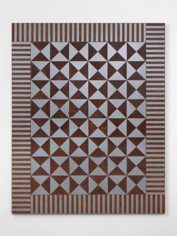 Rob Pruitt, American Quilt 2018: Rusted Studs, 2018, Massimo De Carlo