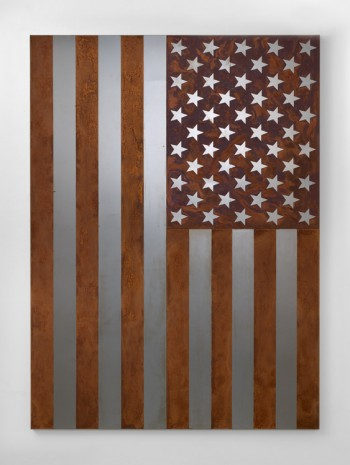 Rob Pruitt, American Quilt 2018: Rusted American Steel Flag, 2018, Massimo De Carlo