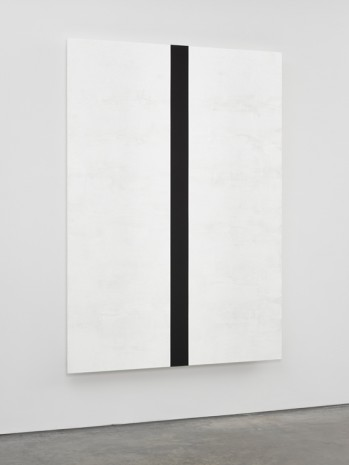 Mary Corse, Untitled (White Black Band, Beveled), 2018, Lisson Gallery