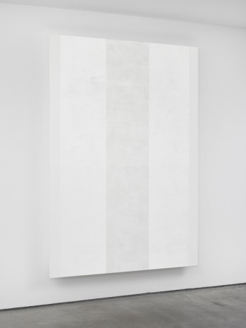 Mary Corse, Untitled (White Inner Band with White Sides, Beveled), 2018