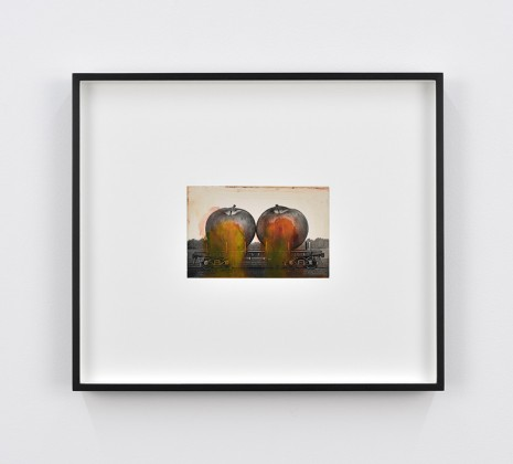 Tacita Dean, Found Postcard Monoprint (Pair of Apples), 2018, Marian Goodman Gallery