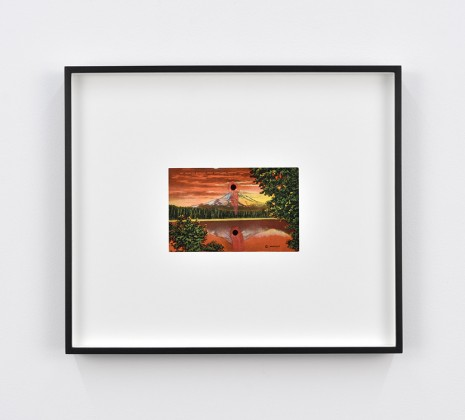 Tacita Dean, Found Postcard Monoprint (Mt. Hood at Sunrise), 2018