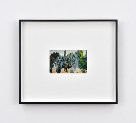 Tacita Dean, Found Postcard Monoprint (A Bed of Cactus), 2018