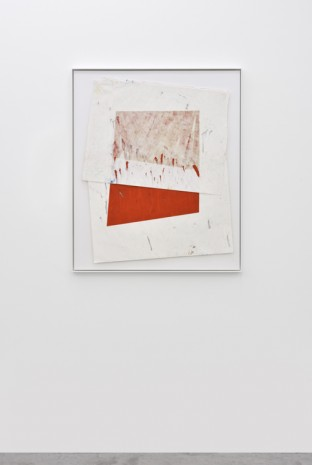 Vincent Chenut, Composition with one red rectangle, 2017, Praz-Delavallade