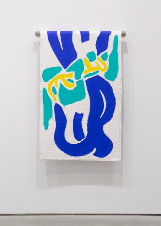 Paul Chan, Towel (Popo blue duo), 2018 , Gladstone Gallery