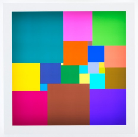 Spencer Finch, Squared Square (22), 2018 , James Cohan Gallery