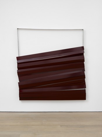 Angela de la Cruz, Shutter (Burgundy), 2017 , Lisson Gallery