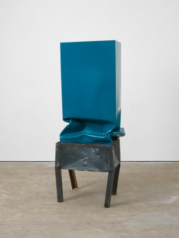Angela de la Cruz, Crate (Turquoise) , 2017, Lisson Gallery
