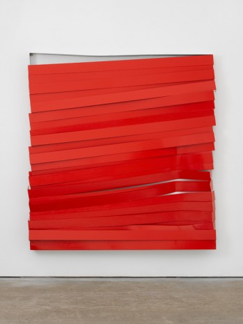 Angela de la Cruz, Shutter (Red), 2017 , Lisson Gallery