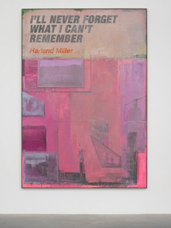 Harland Miller, Ill Never Forget What I Cant Remember, 2018, White Cube