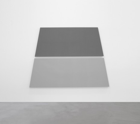 Alan Charlton, Dark + Light Grey Trapezium in 2 Parts, 2018, A arte Invernizzi