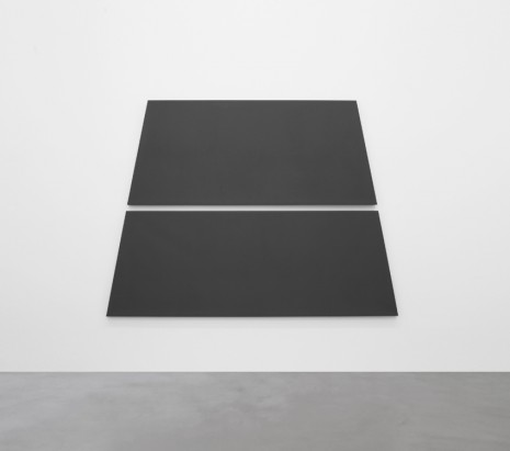 Alan Charlton, Dark Grey Trapezium in 2 Parts, 2018, A arte Invernizzi