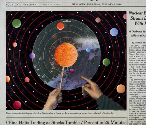 Fred Tomaselli, Thursday, January 7, 2016, 2016, White Cube