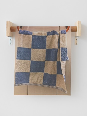 B. Wurtz, Untitled (Blue and White Checked Hand Towel), 2018 , Metro Pictures