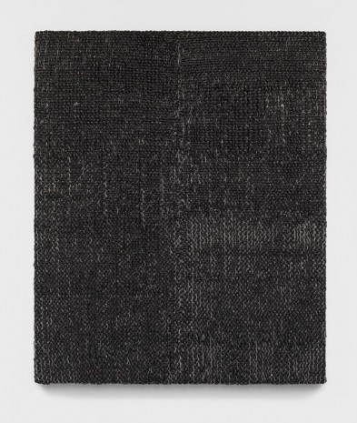 Analia Saban, Woven Solid as Warp, Vertical (Black) #2, 2018, Tanya Bonakdar Gallery