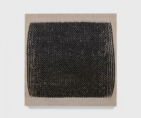 Analia Saban, Woven Square as Warp (Black) #1, 2018 , Tanya Bonakdar Gallery