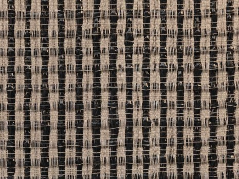 Analia Saban, Woven Grid as Warp and Weft (Black), 2018 , Tanya Bonakdar Gallery