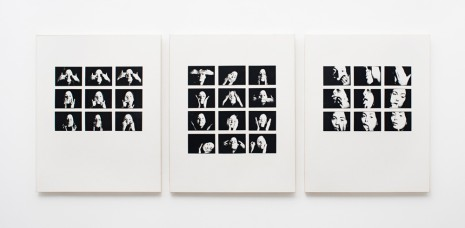Hannah Wilke, Gestures (Triptych), 1974-76 , Alison Jacques Gallery