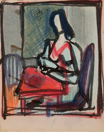Franz Kline, Woman at a Table, circa 1946