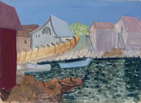 Milton Avery, Fishing Harbor, 1944, Hollis Taggart