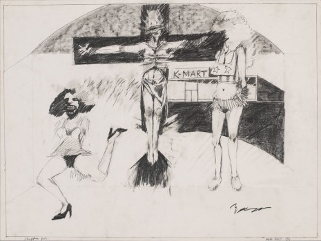 Mike Kelley, Shoppers Fair (Student Drawing), 1974 , Hauser & Wirth