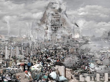 Du Zhenjun, The Tower of Babel—Pollution, 2011, Pearl Lam Galleries