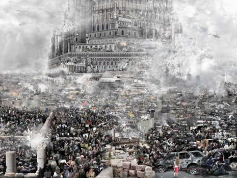 Du Zhenjun, The Tower of Babel—The Crusades, 2011, Pearl Lam Galleries