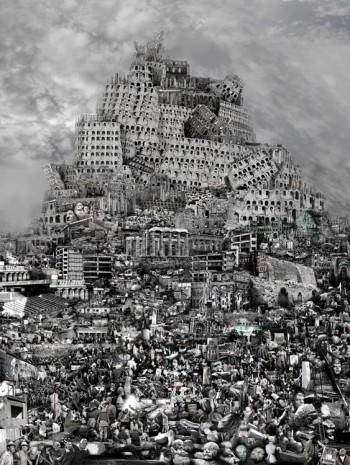 Du Zhenjun, The Tower of Babel—Destruction, 2012 , Pearl Lam Galleries