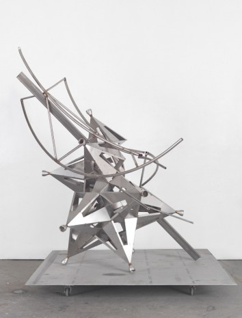 Frank Stella, Stainless split star with truss segments, 2016 , Sprüth Magers