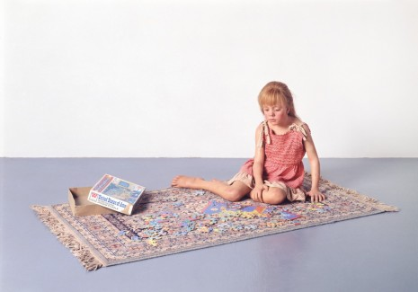Duane Hanson, Child with Puzzle, 1978, Gagosian