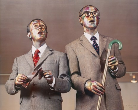 Gilbert & George, The Singing Sculpture, 1993 , Sies + Höke Galerie