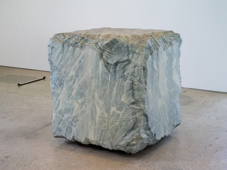 Valentin Carron, Grey Dirty cube, 2012, 303 Gallery