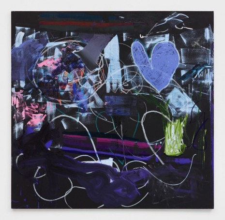 Alexander Kroll, Night Heart Bath Wash, 2018 , Praz-Delavallade